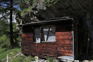 Chata w drodze na Mettelhorn