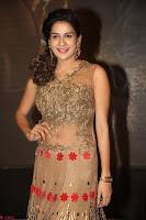 Jenny in brown transparent sleeveless anarkali dress at Shamanthakamani pre release function ~  Exclusive 016.JPG