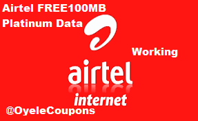 Airtel Free 100Mb platinum Internet Data