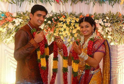 Singer Krishna Chaitanya and Anchor Madhu Mrudula Engagement4