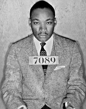 Foto de Martin Luther King cuando fue apresado