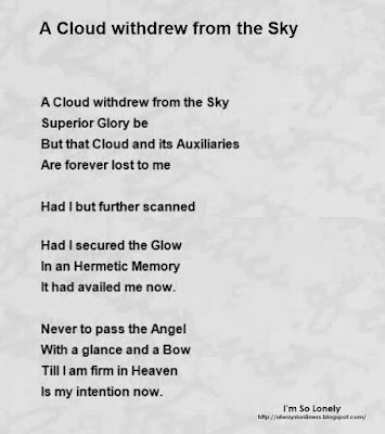 14 All Time Hit Lonely Poems about Cloud