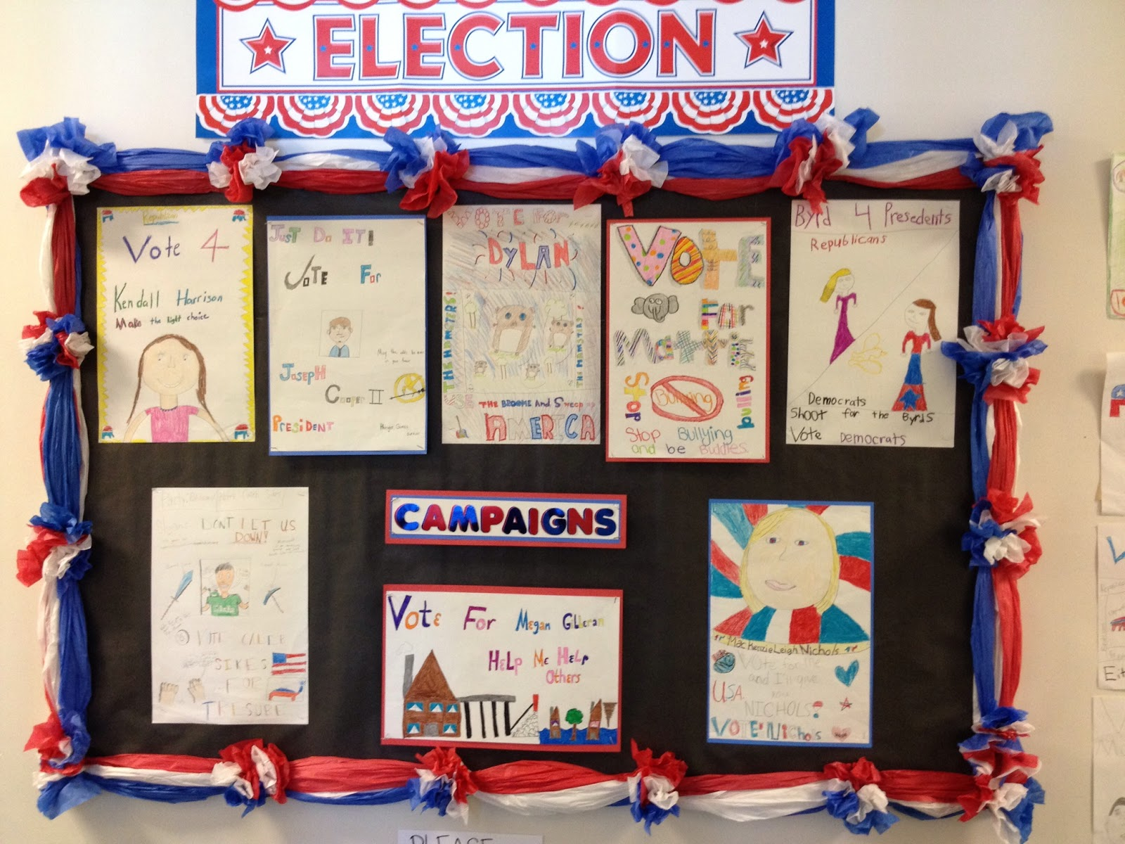 5th Grade President Election Poster