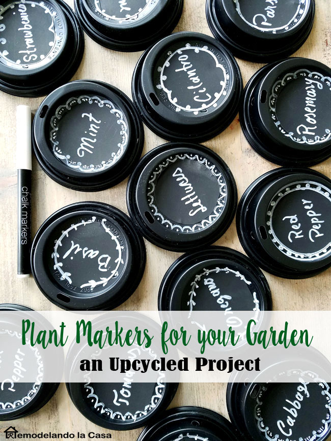 Upcycled Plant Markers For Your Garden