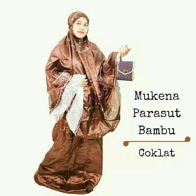 Mukena Parasut Bambu, oleh oleh haji
