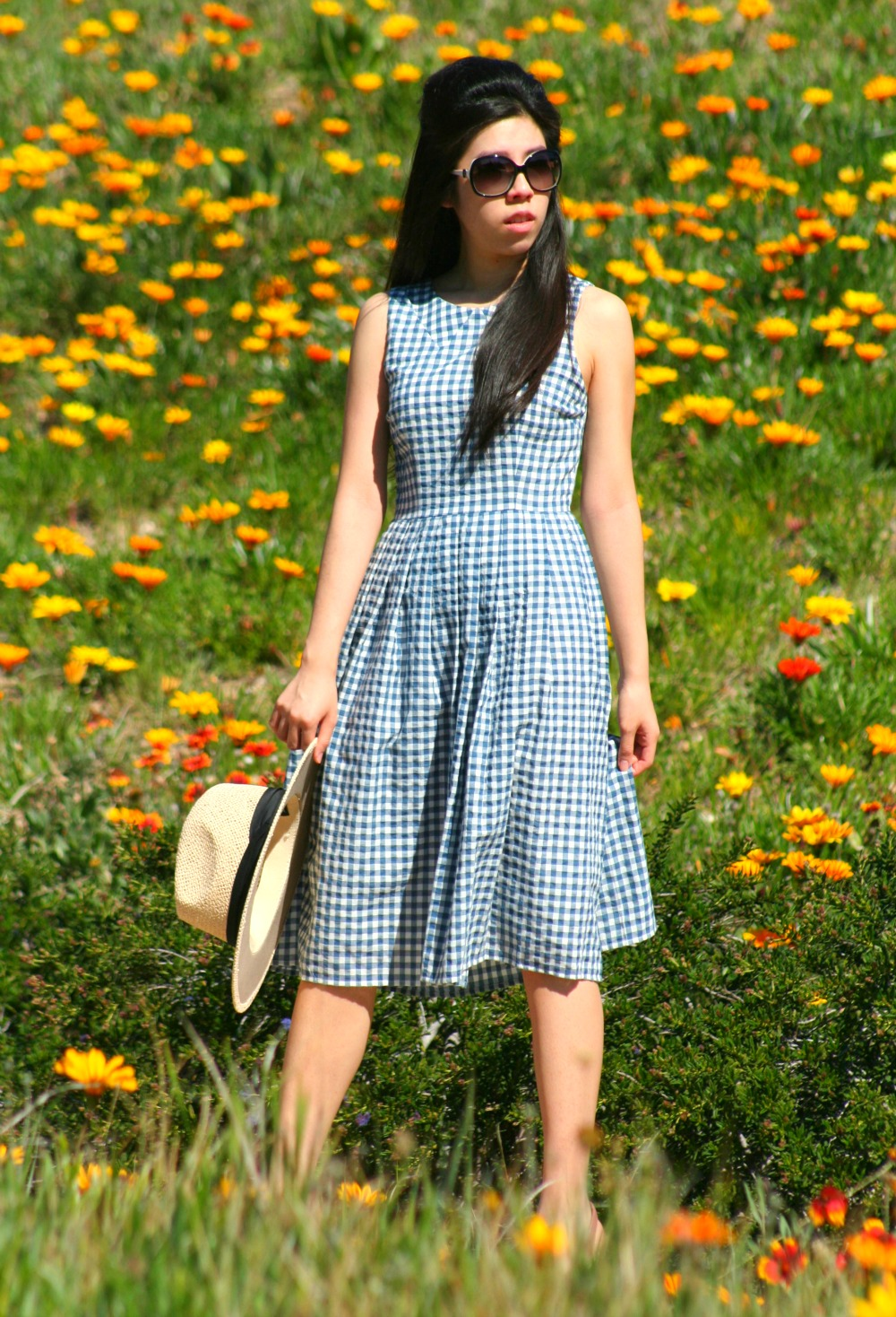 Blue Gingham Dress_Kaya & Sloane Nordstrom Gingham Midi Dress_Adrienne Nguyen_Invictus