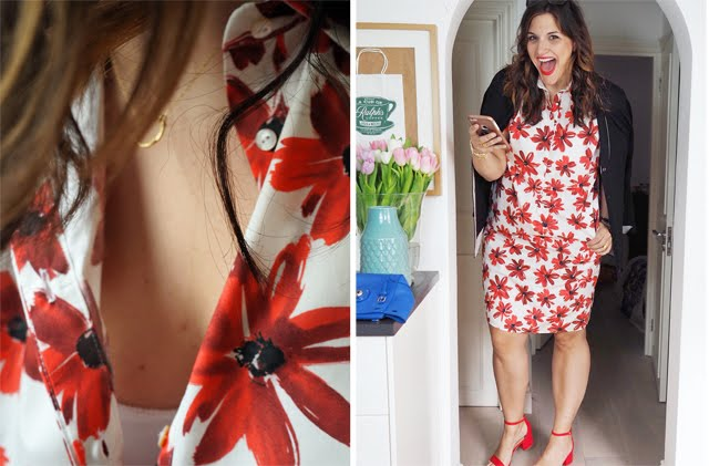 Marina Rinaldi Red Poppy Dress