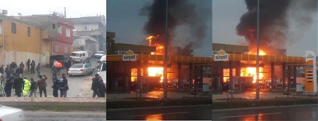 Petrol istasyonunda patlama