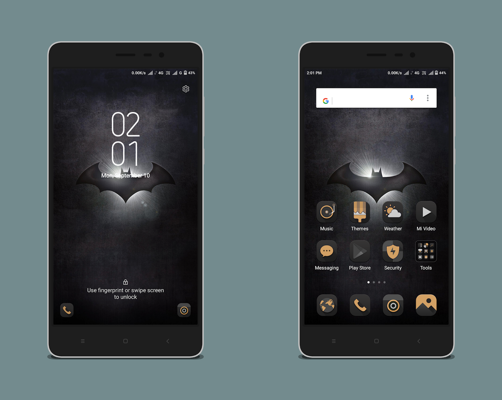 Batman MIUI Theme MTZ Download For Xiaomi Mobile - MIUI Themes