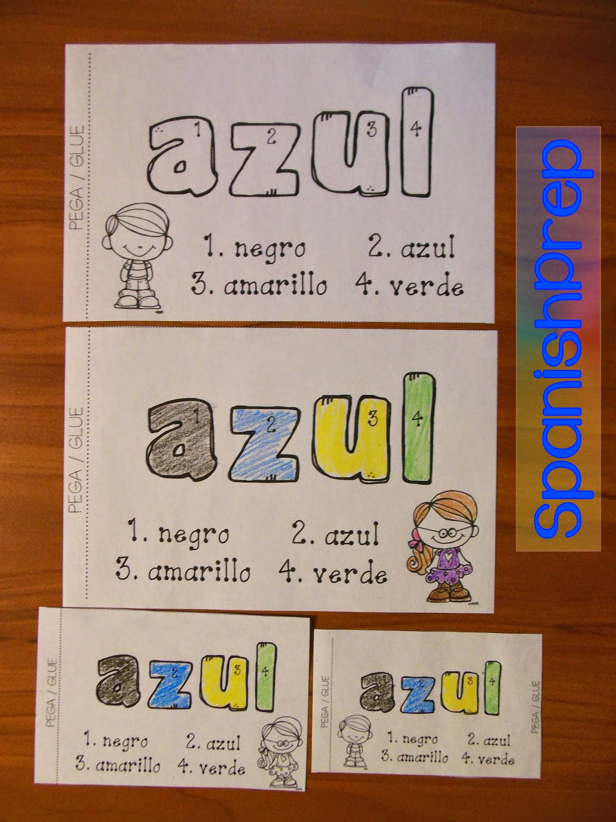 Spanishprep Blog Color By Number Spanish Sight Words