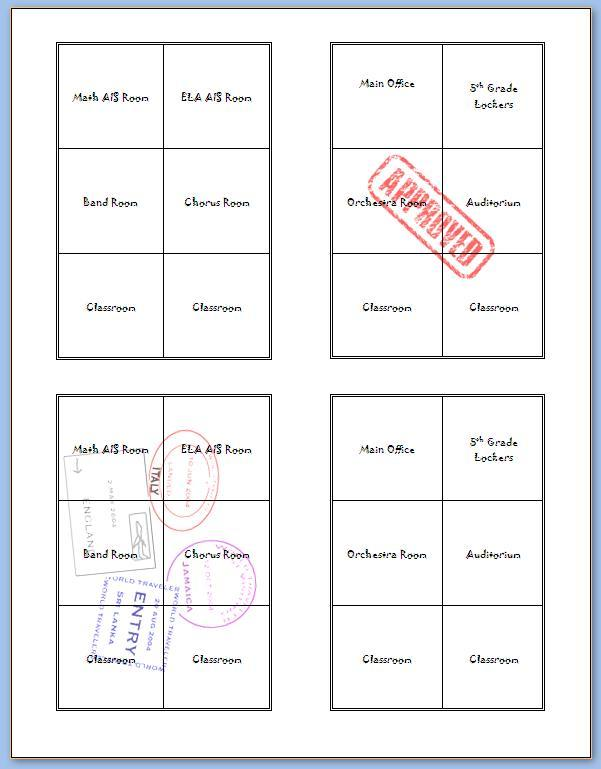 Passport Templates. this features a generic 12 page. 10 free word ...
