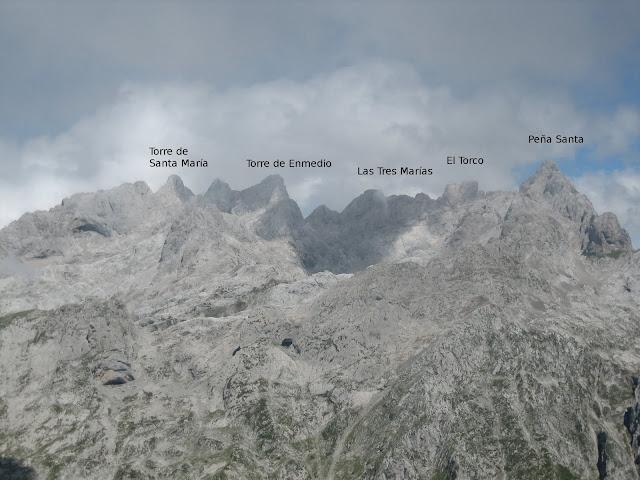 Rutas Montaña Asturias: Vistas del macizo Occidental de Picos de Europa desde Cima del Canto Cabronero