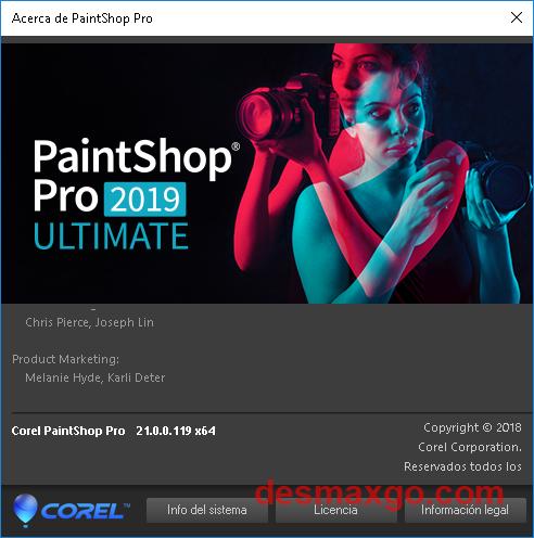 Corel PaintShop Pro 2019 Ultimate v21 Full Crack Patch cap 2
