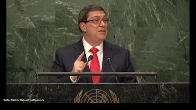 Canciller Bruno Rodríguez Parrilla en la ONU