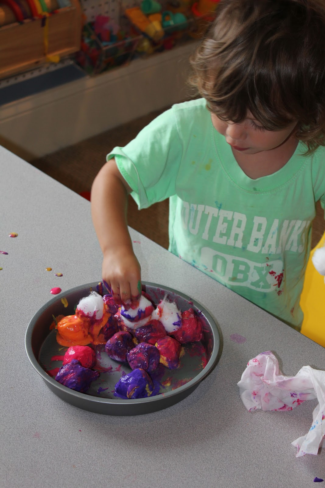 Baked Cotton Balls Activities For Children Clay And