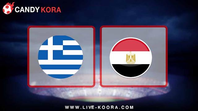 موعد مباراة مصر واليونان اليوم 27-3-2018 مباراة ودية