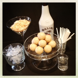 Pina Colada Cake Pops Guest Post Pint Sized Baker