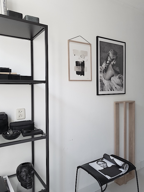 Perfect poster by Love warriors in black wooden frame Anna Bulow poster in Moebe frame via Desenio