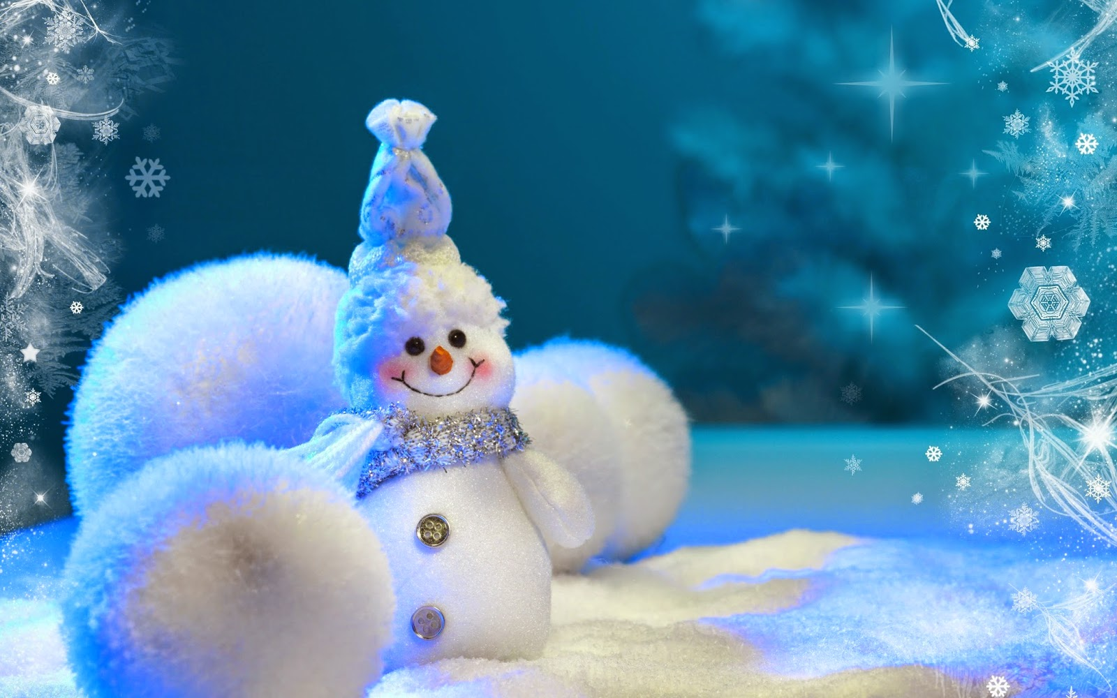 cute-christmas-snowman-wallpaper-blue-theme-template-ice-ball-background-image-picture.jpg