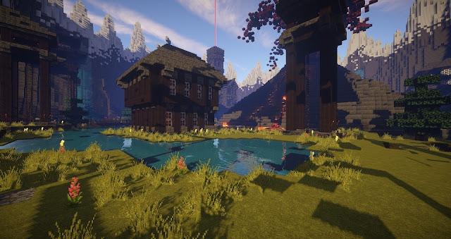 imagen de construccion de madera en minecraft