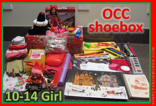 What to pack for a 10 to 14 year old girl in an Operation Christmas Child shoebox.