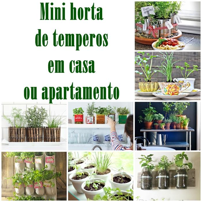 Mini horta de temperos em casa ou apartamento reciclar e decorar blog de decora o e reciclagem - Minibar da casa ...