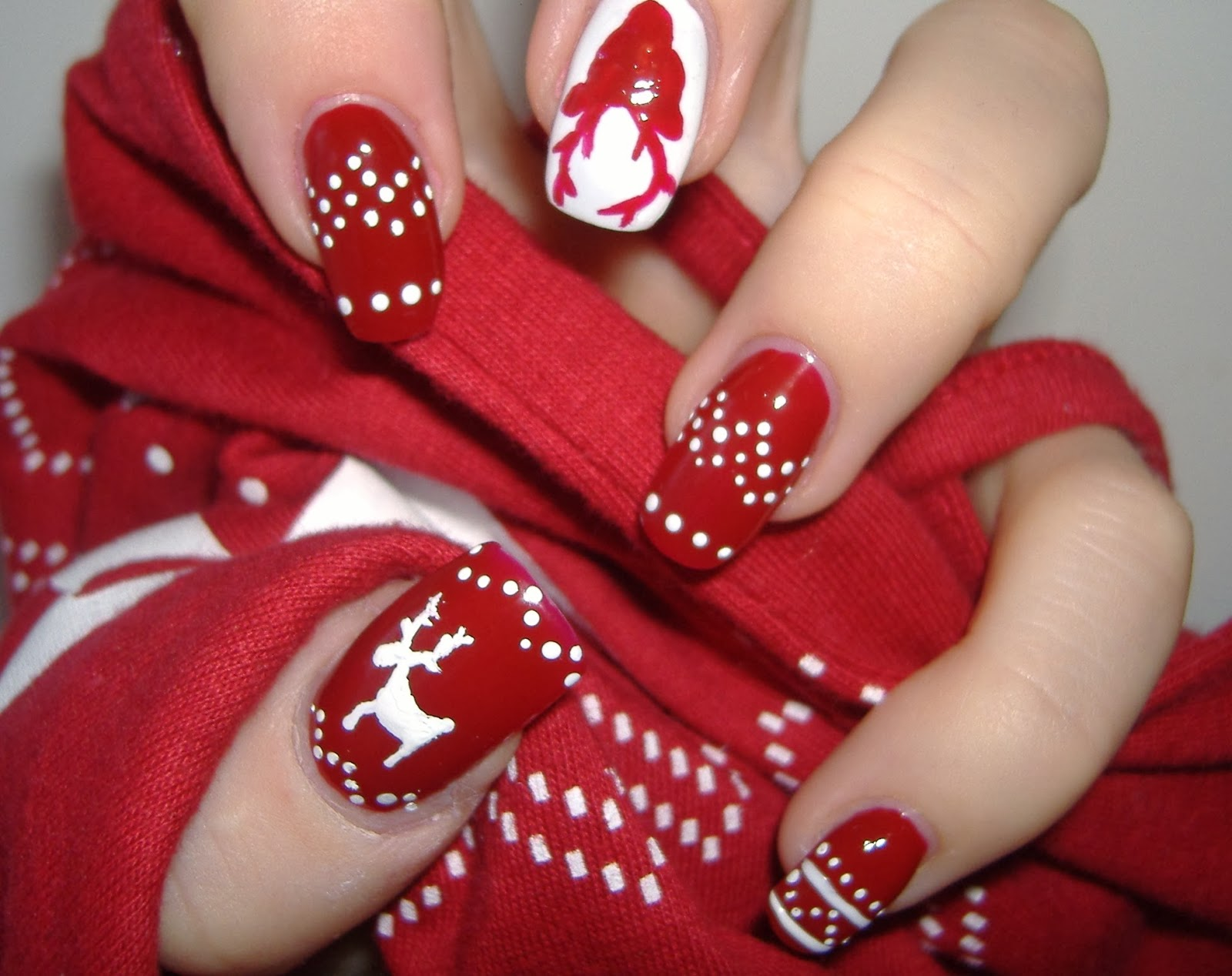 U as decoradas ideas de u as decoradas para navidad - Decoracion de unas para navidad ...