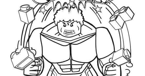 Lego City Kids Lego Hulk Para Colorir