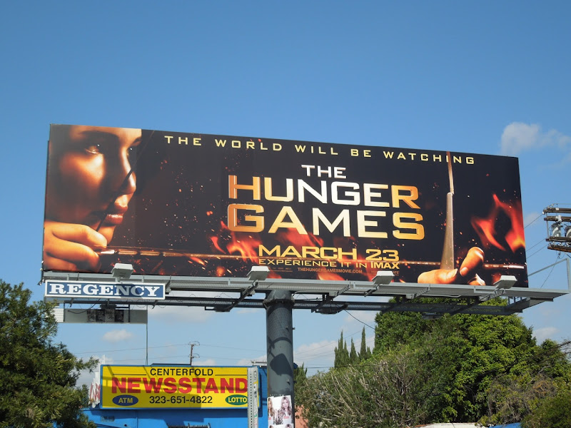 The Hunger Games film billboard