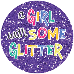 A Girl and Some Glitter