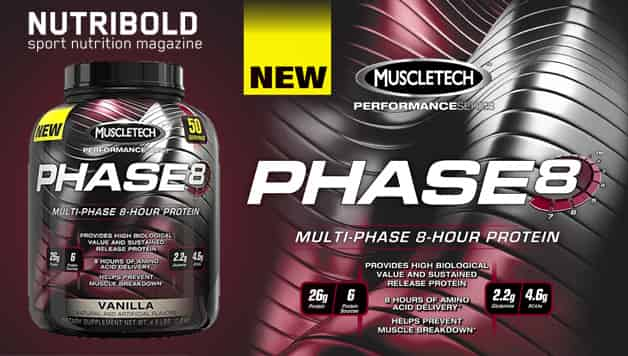 6- Phase8 Protein Powder, Sustained Release 8 Hour Protein Shake
