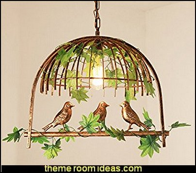 Iron Birdcage Chandeliers Lighting Fixture Pendant Lamps   bird themed bedroom design ideas - bird theme decor - bird theme bedding - bird bedroom decor - bird cage bedroom decor