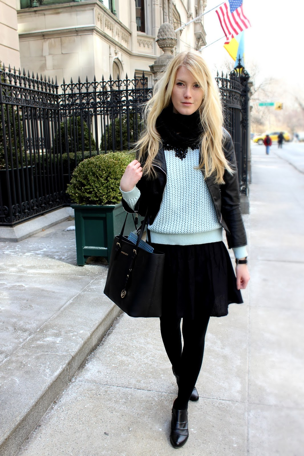 Icy Blue On Upper East Side The Blonde Lion Fashion Travel