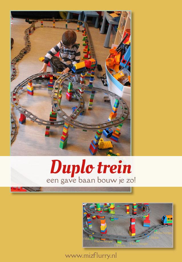Duplo train ideas building tracks. Fun for kids. | Duplo trein idee: bouw een baan omhoog. Leuk voor kinderen.
