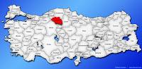 Çankırı ilinin Türkiye haritasında gösterimi