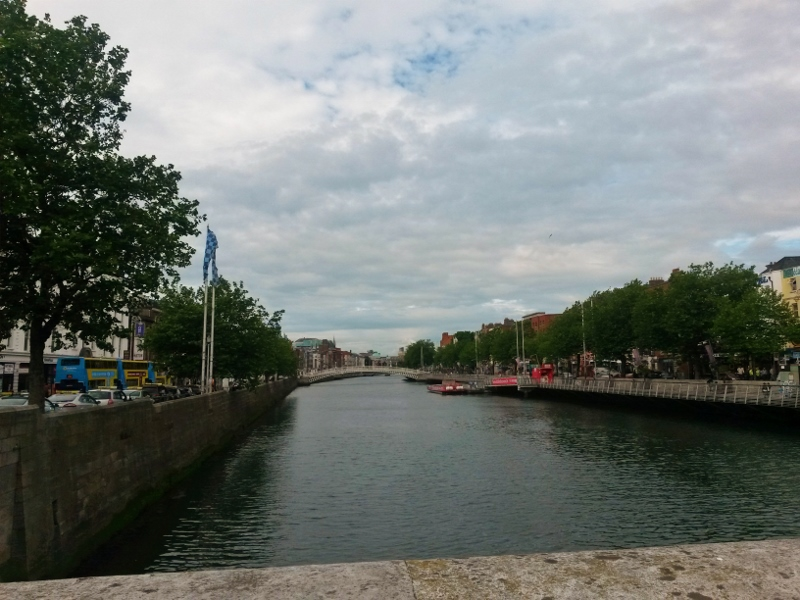 The River Liffey, Dublin. Tour of Ireland Photo Diary
