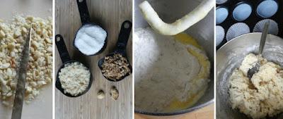 Zubereitung Hawaii Muffins mit Ananas, Macadamianüssen und Kokos (Hawaiian Muffins)