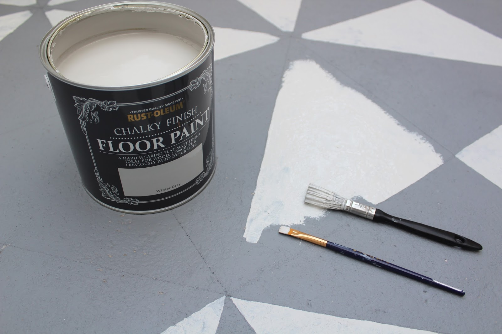 How to Paint a Patterned Floor