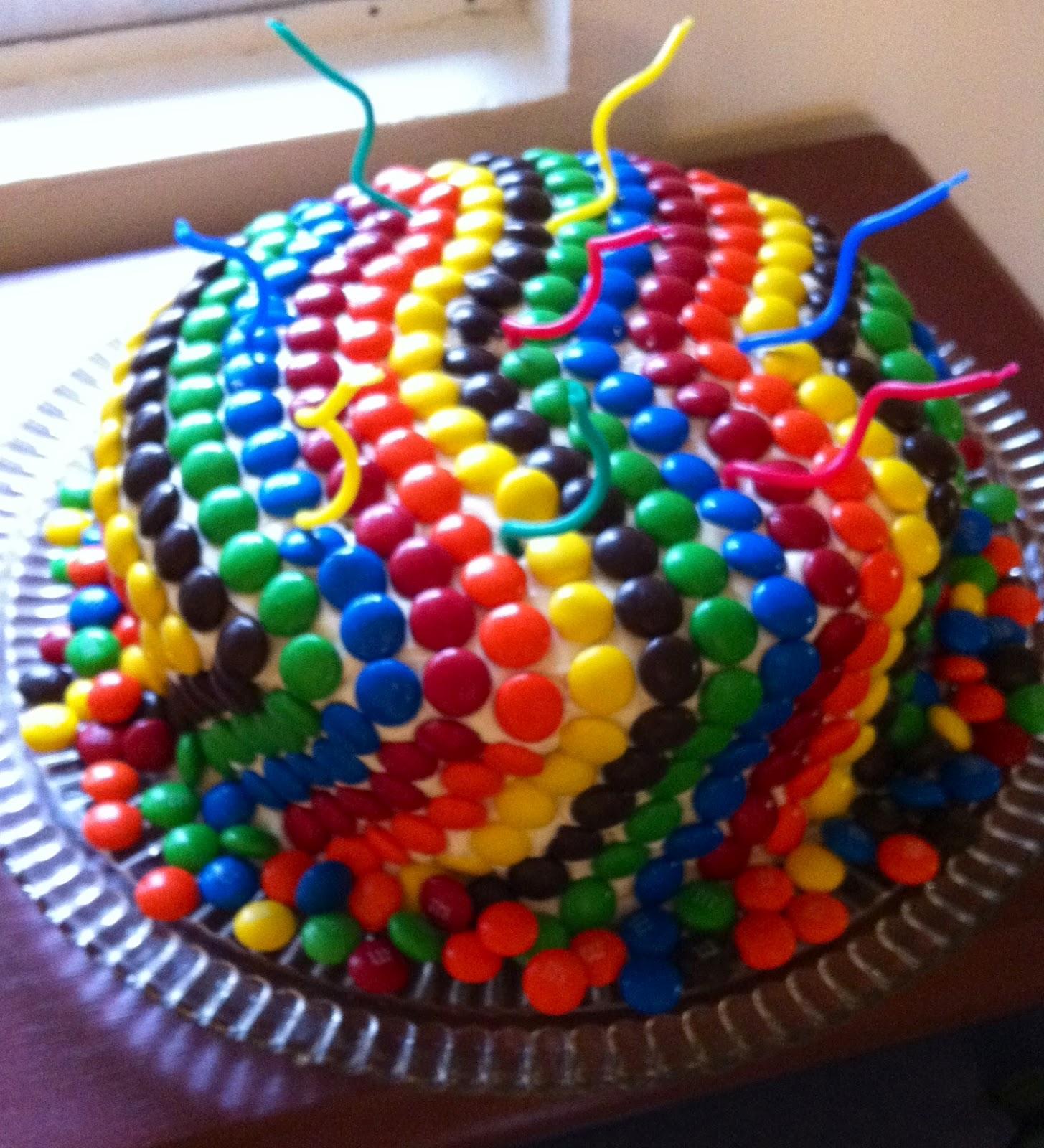 PrincessOfPinterest: Chocolate Candy Coated Cake
