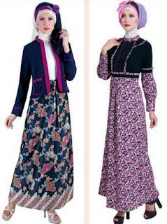 Model Baju Batik Wanita Muslimah