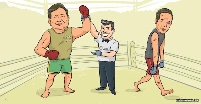 Riset Bigdata Evello : Pilpres Sudah Selesai, Prabowo Insya Allah Menang