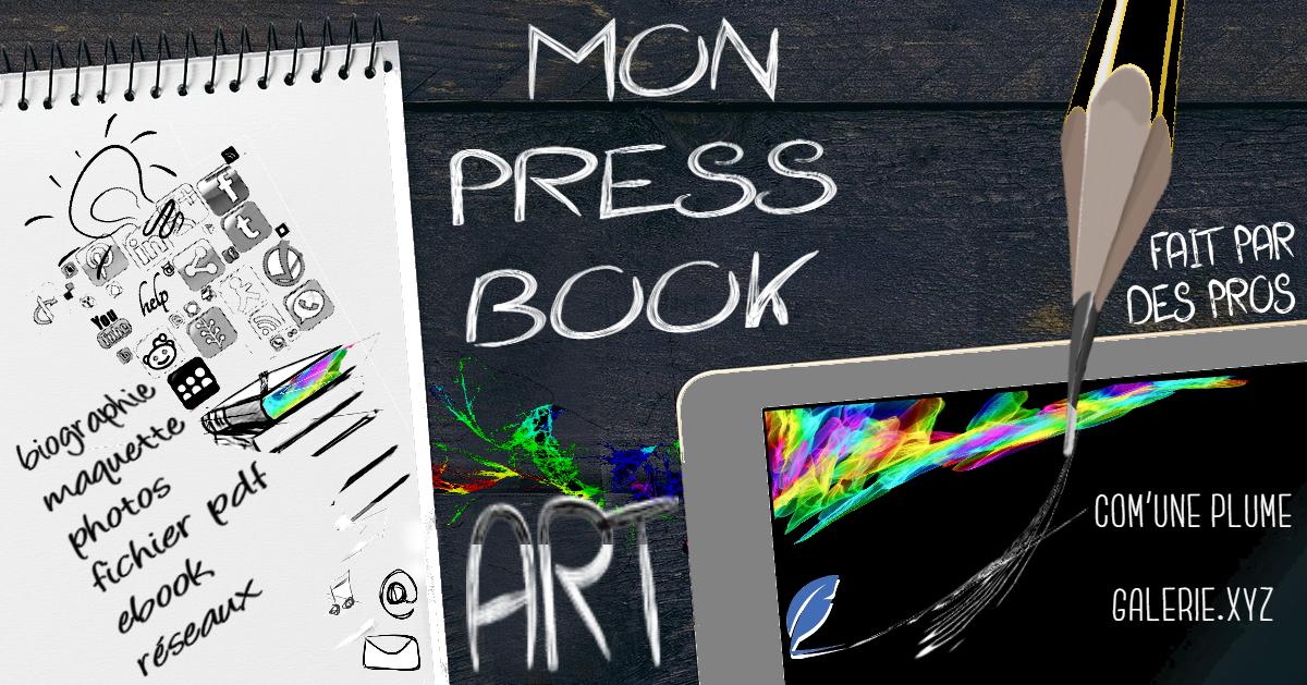 Com' Une Plume agent d'artiste s'associe à Galerie.XYZ afin de créer le pressbook idéal !