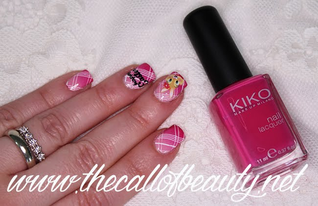 Easter Plaid Nail Art