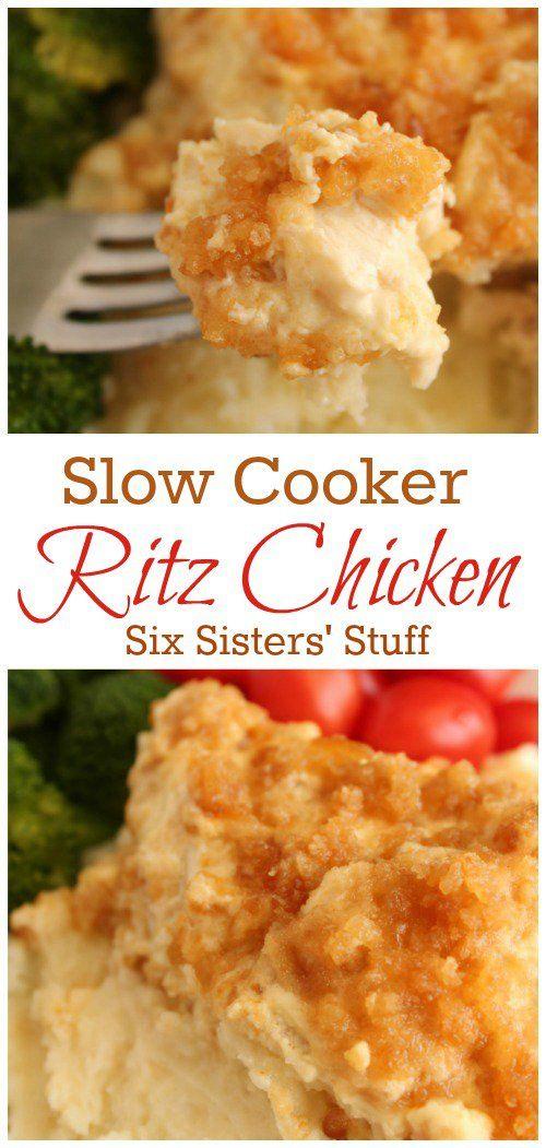 THE BEST SLOW COOKER RITZ CHICKEN