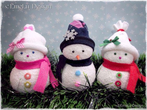 Φτιάξε χιονάνθρωπο απο παλιές κάλτσες, χωρίς ράψιμο