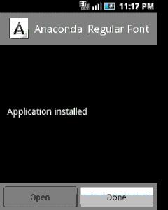 7. Lalu install Font yang telah anda download tadi