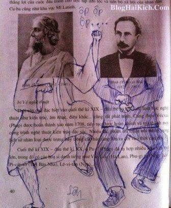 Hình ảnh vẽ bậy lên sách giáo khoa