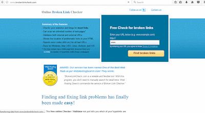 check broken link