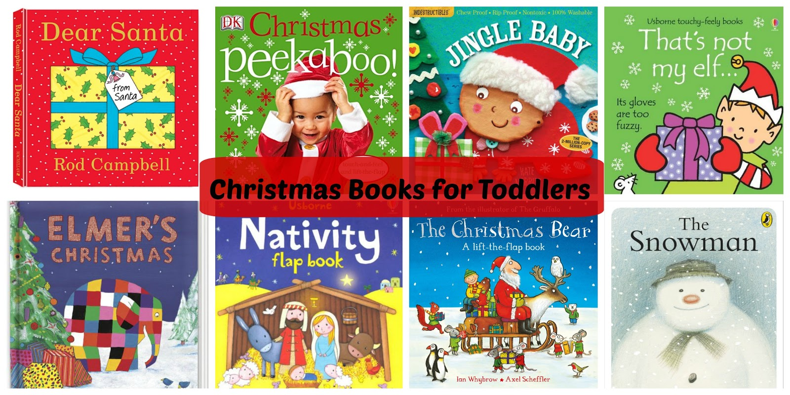Christmas Books for Toddlers - Play and Learn Every Day