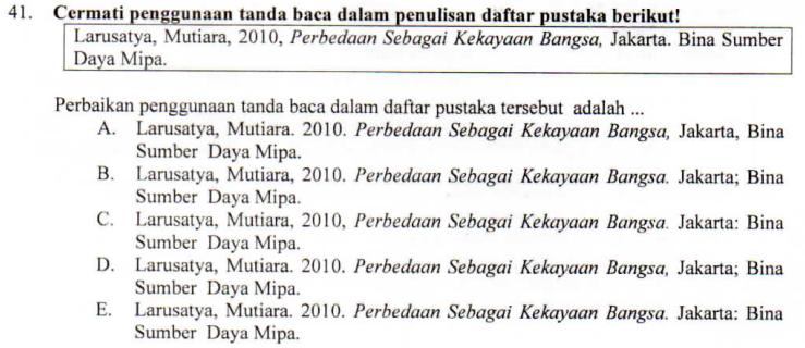 Tanda Baca Dalam Daftar Pustaka Zuhri Indonesia